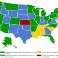 Salarios Mínimos en los Estados Unidos 2014:Por Estado