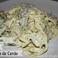 Receta:Pasta Fettuccine Alfredo con Cerdo