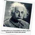 Frases de Albert Einstein sobre la Educación:#1