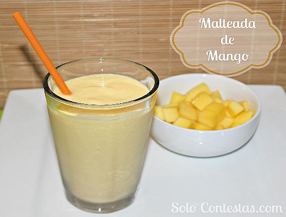 Malteada de Mango y leche de arroz