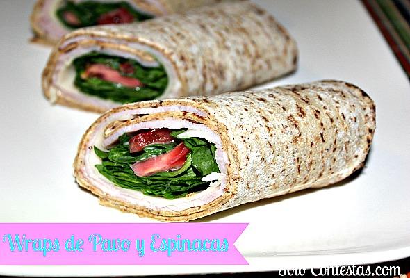 Wraps de Pavo y Espinacas