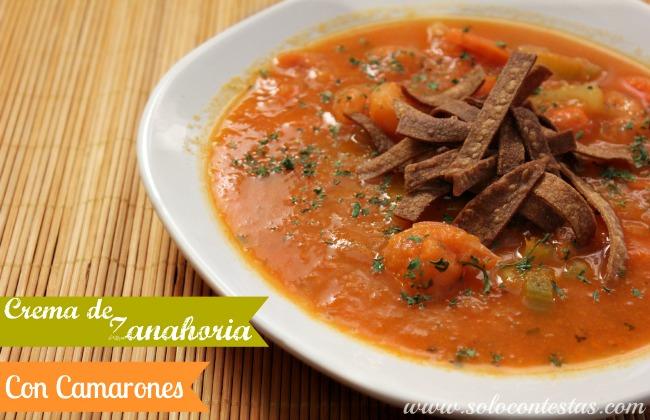 Crema de Zanahoria con Camarones