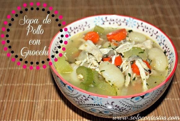 Sopa de Pollo con Gnocchi
