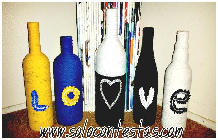 Botellas de plastico y vidrio recicladas como decoraciones for Como hacer decoraciones para el hogar