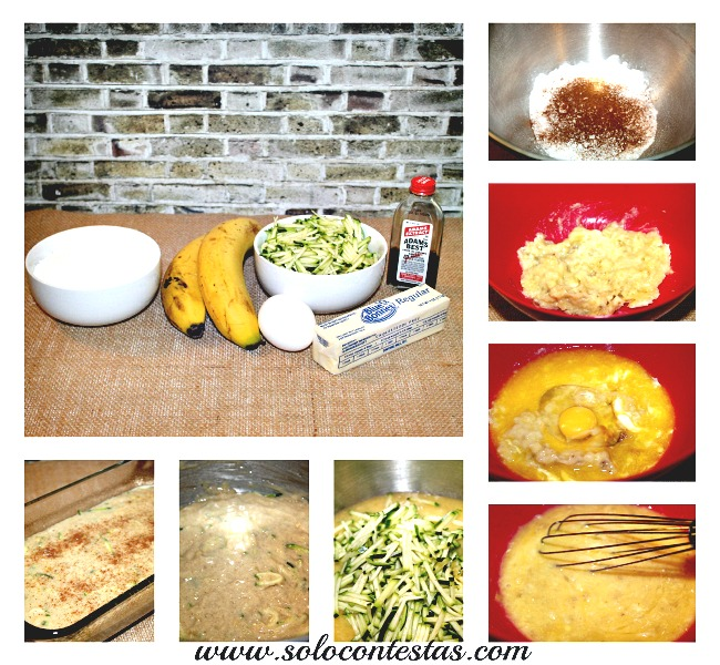 zucchini Banana Bread Step-By-Step
