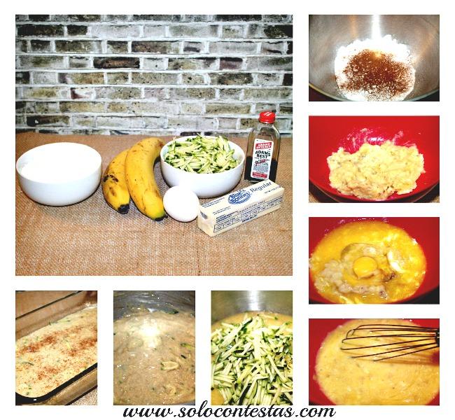 zucchini Banana Bread Step-By-Step