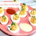 Receta Sencilla:Huevos Rellenos con Salsa Búfalo
