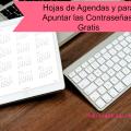 Imprimibles para Organizarte:Agenda Diaria y Hoja para Guardar Contraseñas