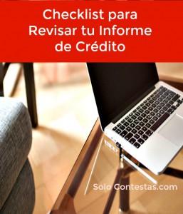 checklist reporte de credito